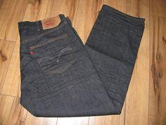Levis 501 Mens Levi Dark Blue Jeans 42X32 Regular Fit Straight Leg Button Fly #Levis #RegularFitStraightLeg