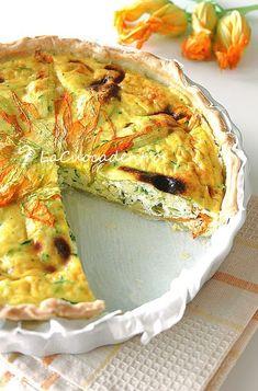 Quiche alle zucchine e fiori di zucca ripieni - La Cuoca Dentro
