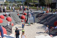 Парк Горького Park Playground, Playground Design, Outdoor Playground, Landscape Architecture, Landscape Design, Kids Party Venues, Cool Playgrounds, Outdoor Play Equipment, Public Space Design