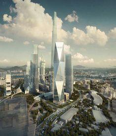 Diagonal Tower / SOM - Seoul, South Korea ☮k☮ #architecture