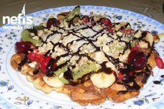 Nefis Waffle Tarifi Crepes, Acai Bowl, Pancakes, French Toast, Food And Drink, Breakfast, Desserts, Cupcake, Cupcakes
