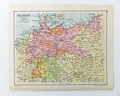 Inter-war Germany map Vintage Map of Germany 1934 map