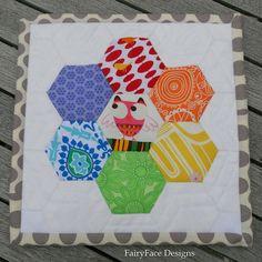 Hexie rainbow mug rug finished   Rainbow hexie mug rug for t…   Flickr