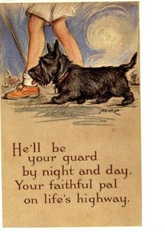 He'll be your guard...artist Lucy Dawson 1930's