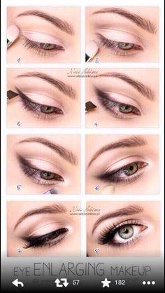 DIY make-up tricks: enlarge eyes