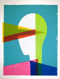 The Vision, one of my favorite silkscreen printed pieces by our pal largemammal.