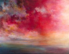 """Saatchi Art Artist: Rikka Ayasaki; Acrylic 2013 Painting """"Passions, Sunset 5076(Painted in 2013)"""""""
