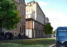 Perspective 3D d'un immeuble d'habitation au sein du quartier des Chartrons à Bordeaux. #architecture #3D #visuarchstudio #render
