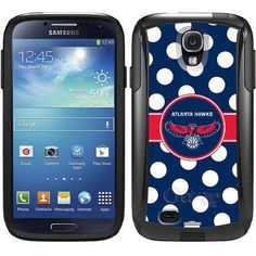 Atlanta Hawks Polka Dots Design on OtterBox Commuter Series Case for Samsung Galaxy S4