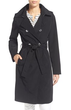 CALVIN KLEIN Double Breasted Long Trench Coat. #calvinklein #cloth #