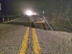 The CELESTIAL Convergence: GEOLOGICAL UPHEAVAL: More Sinkholes Keep Popping Up Across The United States & England - Large Sinkhole Destroys Road In Licking County, Ohio...