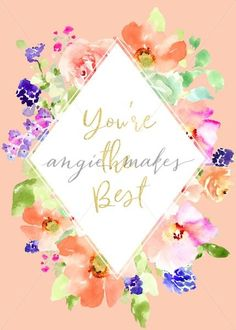 You're The Best Quot