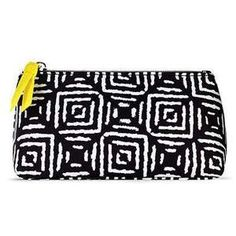 NEW: Graphic Color Cosmetic Bag-AQUALUZZA  Stylish makeup bag for your makeup and tools. #makeup #cosmeticbag - Available on www.aqualuzza.com