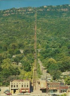 The Incline up Lookout Mountain, Chattanooga, Tenn., is 4750 feet long from St. Elmo at its base to the summit of the mountain.  It is the steepest cable incline in the world, reaching a 72.7 percent grade at one point.