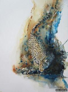 """Self-taught artist Karen Laurence-Rowe paints these beautiful African wildlife paintings. """"I am a self-taught artist – and the mistakes . Wildlife Paintings, Wildlife Art, Animal Paintings, Art And Illustration, Illustrations, Watercolor Illustration, Watercolor Animals, Watercolor Paintings, Watercolours"""