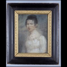 Portrait of Elizabeth Tabb Patterson Yeatman (Mrs.Thomas Robinson Yeatman)(1796-1868) 1814 Attributed to: Felix Thomas Sharples (ca. 1786-after 1824) Origin: America, Virginia, Mathews County Primary Support: 9 1/16 x 7in. (23 x 17.8cm) and Framed: 13 1/8 x 11 1/8 x 1 11/16in. Pastel on paper, framed Gift of Mrs. Billie A. Yeatman in memory of her husband, John Patterson Yeatman, Colonial Williamsburg Acc. No. 2005-49