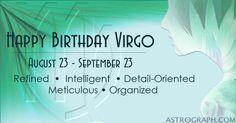 Happy Birthday Virgo! - AstroGraph Astrology Software