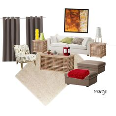 Ikea Living Room, created by margedesign.polyvore.com
