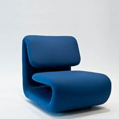 Etienne Henri Martin Chairs, Series 1500 (4 available), 1970 tubular internal structure with foam covered with jersey Each, 29.92H x 24.41 x 29.53 inches 76 H x 62 x 75 cm Produced by TFM until 1976, then Mangau-Atal Mobilier National. France.