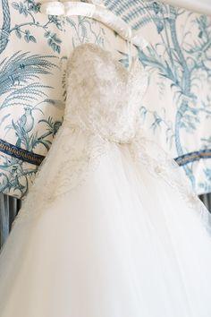 Dreamy Strapless Ballgown by Lazaro. See the elegant wedding on SMP here: http://www.StyleMePretty.com/california-weddings/2014/05/21/elegant-blush-gold-wedding-at-the-fairmont/ Photography: U Me Us Studios - umeusstudios.com