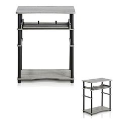 Basic computer laptop desk office home work study station table furniture gray #PerfectAllinaceLad #Contemporary