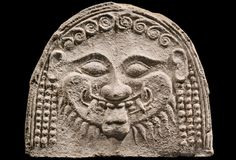 An Antefix with the Head of a Gorgon, Greek, late 6th century B.C.