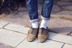 Masculine Glitter #gold #shoes