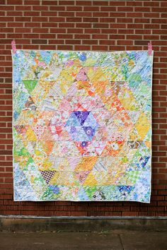 Vintage Sheet Patchwork Prism Quilt by jenib320, via Flickr. this makes me want to be a thief.