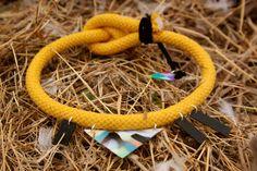 Yellow Choker , necklace , jewelry - Szamanka design