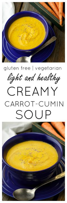 Carrot-Cumin Soup...a little sweet, a little spicy and totally creamy #eatrightforyoursight