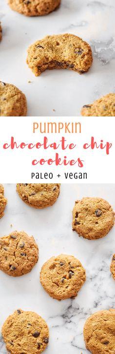 Vegan Pumpkin Chocolate Chip Cookies — Clean-ish Living Katie