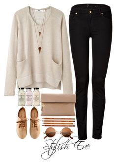 """aml"" by stylisheve ❤ liked on Polyvore featuring Hope, 7 For All Mankind, H&M, Clare V. and Jules Smith"