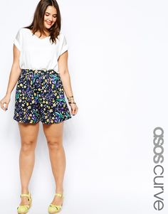 ASOS CURVE | Culottes In Summer Floral Print