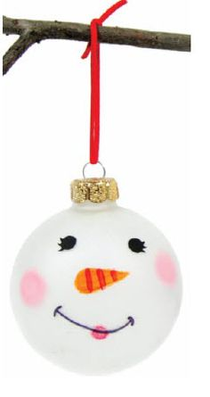 A.C. Moore Sparkly Snowman Ornament #ornaments #craft #christmas