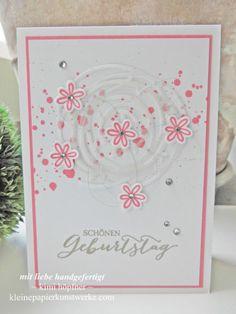 Birthday card stampin up swirly bird flamingorot