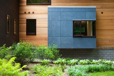 Wood & Steel & Fiber Cement --- nice!   modern exterior by Lucid Architecture