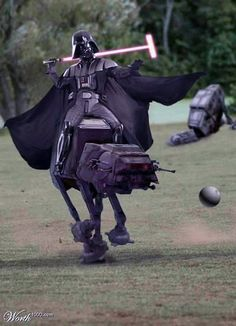Darth Vader prácticando Polo.