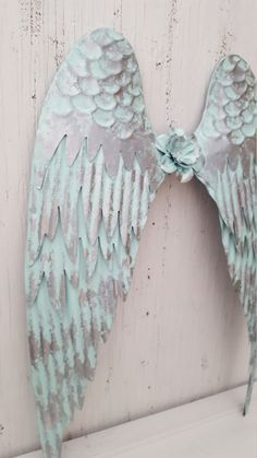 Large Blue and Silver Metal Angel Wings Wall Art Shabby Chic Rustic Metal Angel Wings Wall Decor Angel Wings Painting, Diy Angel Wings, Angel Wings Wall Decor, Angel Art, Silver Metal, Blue And Silver, Wing Wall, Blue Wings, Angel Pictures