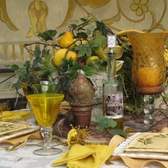 Tuscan Table Setting, Iu0027d Use Different Color, But I Like The Layering Of  Colors, Glass And Metal.