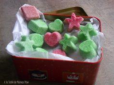 sucre colorés