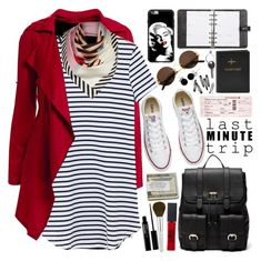 """Last Minute Trip"" by martinabb ❤ liked on Polyvore featuring Lulu Guinness, Converse, Sole Society, Mulberry, FOSSIL, H&M, Cartier, Trish McEvoy, Maison Margiela and Maybelline"