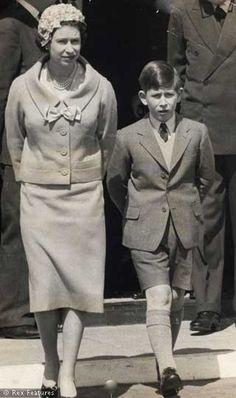 1959 Queen Elizabeth and Prince Charles