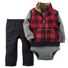 Carter's Baby Boys' Vest, Pants and Bodysuit Set - Kids & Baby - Macy's - apparel clothing, clothes on fashion, shop for clothes online *ad Baby Outfits, Outfits Niños, Kids Outfits, Summer Outfits, Newborn Outfits, Fashion Outfits, Baby Set, Baby Boy Fashion, Fashion Kids