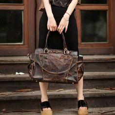 Bolsa de couro feitos à mão por Beverly