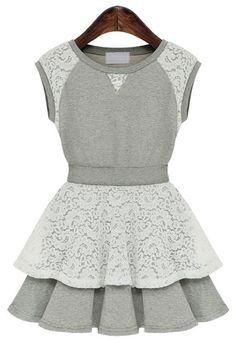 Must-have Lace Paneled Dress
