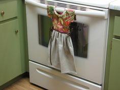 "Tutorial for ""Dress"" Kitchen Towel"