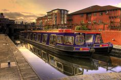 Narrowboats on the Birmingham Canal by slack12, Birmingham, UK #england #birmingham