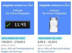 """Amazon: Start-Up-Produkte mit bis zu 50 Prozent Rabatt für einen Tag https://www.discountfan.de/artikel/technik_und_haushalt/amazon-start-up-produkte-mit-bis-zu-50-prozent-rabatt-fuer-einen-tag.php Exklusiv für Prime-Kunden sind heute bei Amazon Start-Up-Produkte mit bis zu 50 Prozent Rabatt zu haben. Neben Technikartikeln sind auch solche für """"Haus und Garten"""", """"zum Wohlfühlen"""" und für """"Sport und Outdoor"""" im Angebot. Amazon: Start-U"""