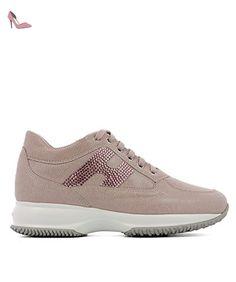 Hogan Femme Hxw00n02011fnu0xut Rose Cuir Baskets - Chaussures hogan (*Partner-Link)