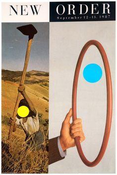 jillsies:    John Baldessari poster for New Order, 1987
